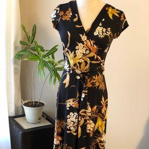 Olivia Matthews Cap-Sleeved Maxi Dress